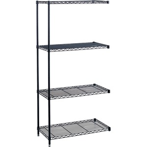 Safco Industrial Wire Shelving Add-On Unit SAF5286BL