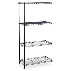 Safco Industrial Wire Shelving Add-On Unit SAF5289BL
