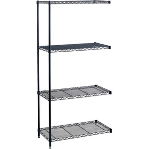 Safco Industrial Wire Shelving Add-On Unit SAF5292BL