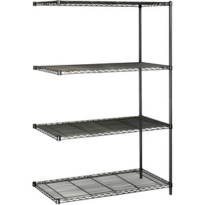 Safco Industrial Wire Shelving Add-On Unit SAF5295BL