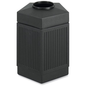 Safco Trophy Collection Indoor/Outdoor Receptacle SAF9486BL
