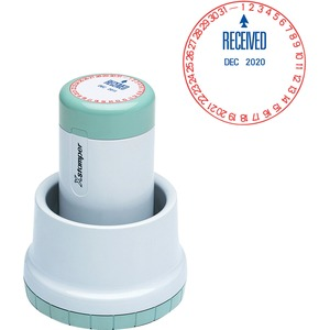 Xstamper XpeDater Pre-Inked Rotary RECEIVED Message/Date Stamp XST22602