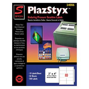 Simon PlazStyx Laser Label SJPSL24006