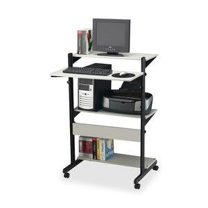Mayline Adjustable Computer Table MLN8432SOGRYBLK