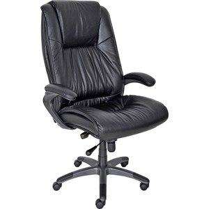 Mayline Ultimo Leather High-Back Chair MLNULEXBLK