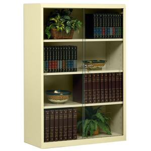 Tennsco Heavy-guage Steel Bookcase With Glass Doors TNN352GLSD