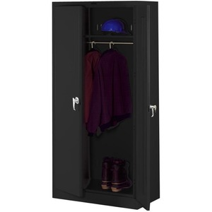 Tennsco Heavy-gauge Steel Wardrobe Cabinet TNN7114BK