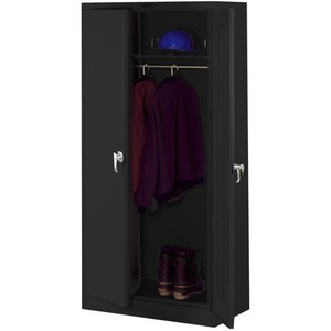Tennsco Full-Height Deluxe Wardrobe Cabinet TNN7824WBK