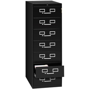 Tennsco Card Files & Media Storage Cabinet TNNCF758BK