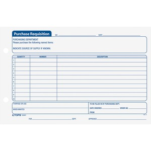 TOPS Purchase Requisition Form TOP32431
