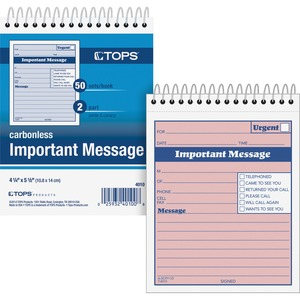 TOPS Duplicate Important Message Book TOP4010