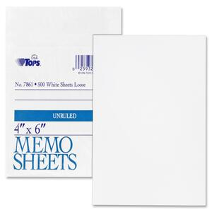 TOPS White Bond Memo Sheets TOP7861