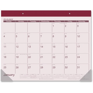 At-A-Glance Monthly Compact Full Year Desk Pad Calendar