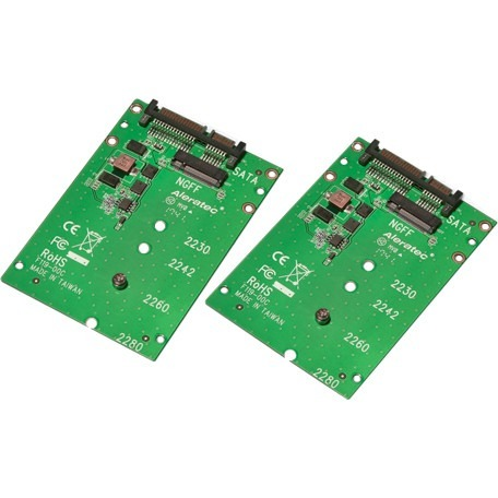 Aleratec, Inc M.2 NGFF SATA SSD to SATA Converter 2-Pack