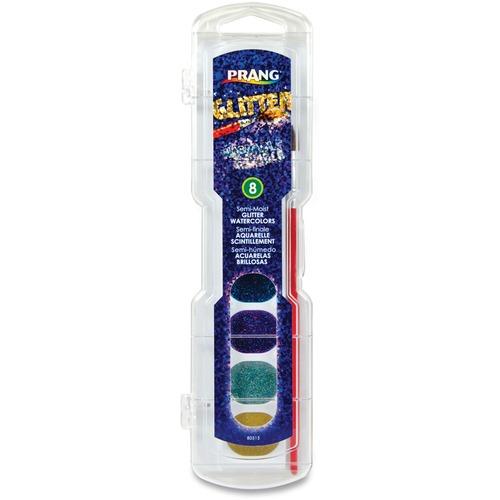 Prang Semi-Moist Washable Glitter Watercolor DIX80515