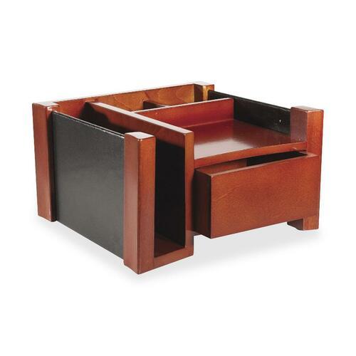 Rolodex Leather/Wood Desktop Director ROL81767