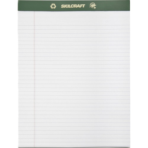 Skilcraft Perforated Chlorine Free Writing Pad NSN5169627