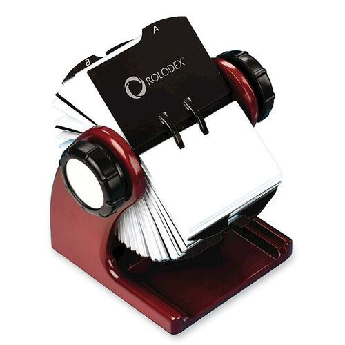 Rolodex Wood Tones Rotary Business Card File ROL1734242