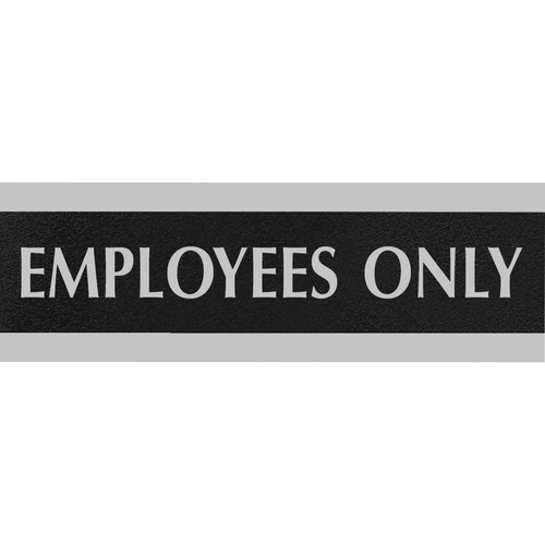 U.S. Stamp & Sign Century Employees Only Sign USS4760