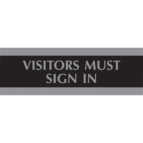 U.S. Stamp & Sign Visitors Must Sign In Sign USS4763