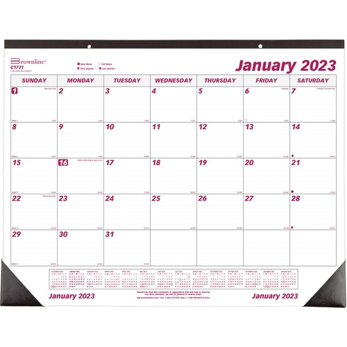 Weekly Calendar Desk Pad : Brownline monthly desk pad calendar redc
