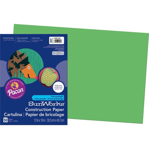 SunWorks Groundwood Construction Paper PAC9607