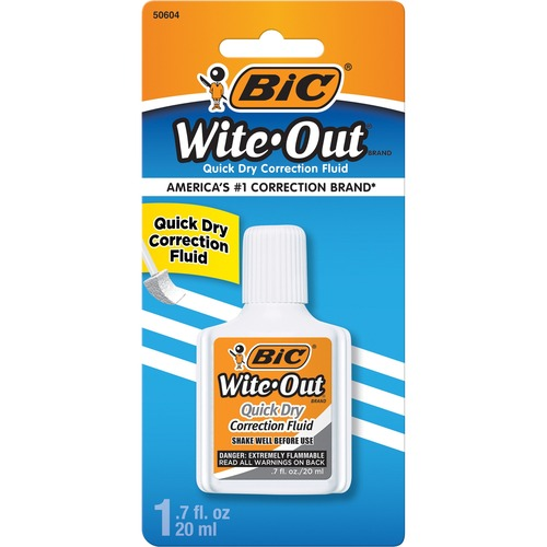 BIC Wite-Out Correction Fluid BICWOFQDP1WHI-BULK
