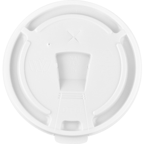 12oz-16oz Hot/Cold Cup Lids, White GJO58555