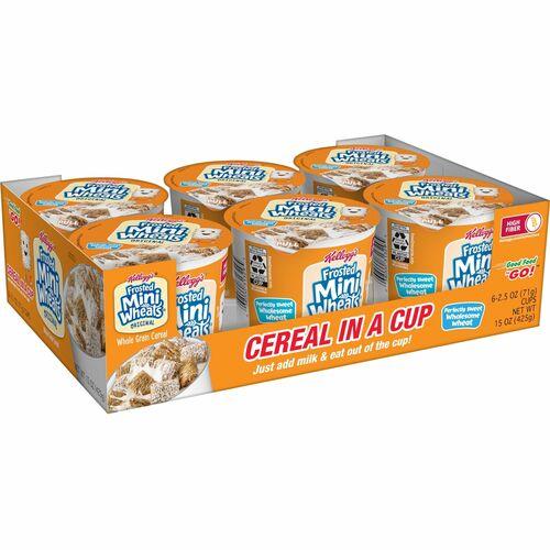 Kellogg's Breakfast Cereal, Frosted Mini Wheats, Single-Serve, 6/Box KEB42799
