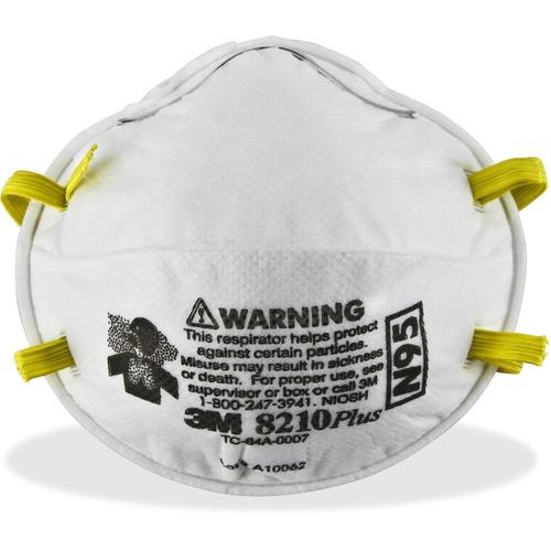 3M 8210PLUS N95 Particulate Respirator MMM8210PLUS-BULK