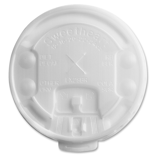Company Liftback & Lock Tab Cup Lids For Foam Cups, with Straw Slot, 2000/Carton SCCLX2SBR