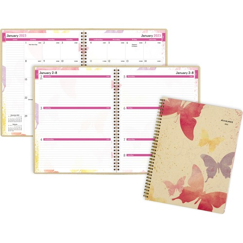 At-A-Glance Aag791905g Wkly-Mthly Planner, Jan-Dec, 2ppm, 8.5 In. X 11 In, Watercolors AAG791905G