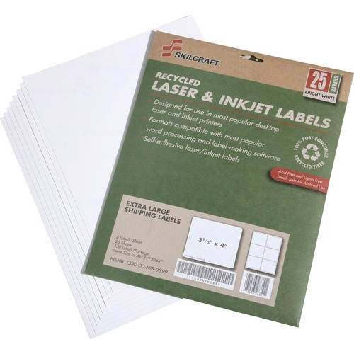 Skilcraft 7530-01-578-9295 Extra Large Shipping Label NSN5789295