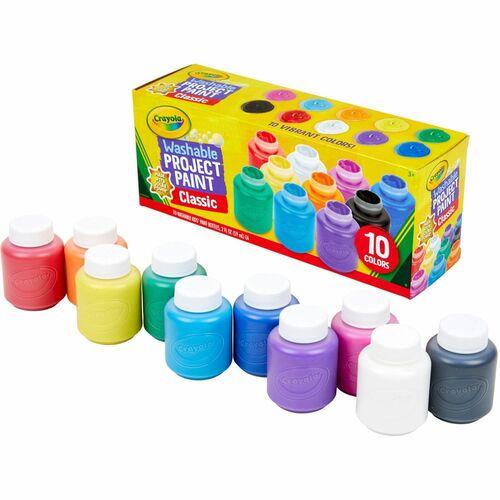 Crayola 10 ct. Washable Kids' Classic Paint CYO541205