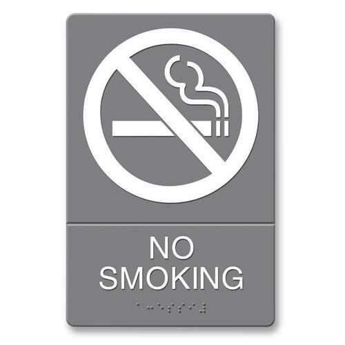 U.S. Stamp & Sign ADA Plastic No Smoking Sign USS4813