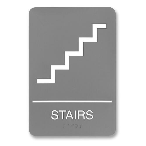 U.S. Stamp & Sign ADA Plastic Stairs Sign USS5401