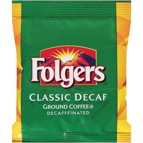 Folgers Ground Coffee, Fraction Pack, Classic Roast Decaf, 1.5oz, 42/Carton FOL06433