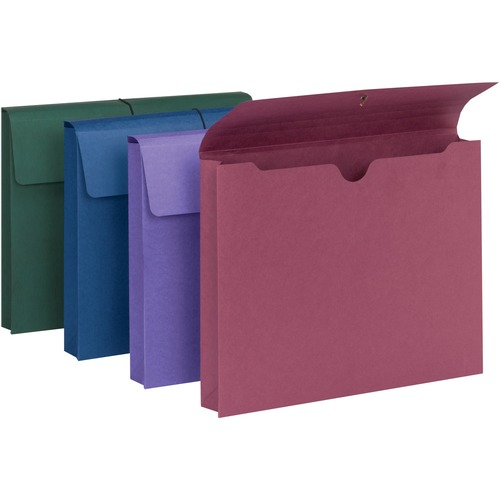 Smead expanding wallet 2quot expansion flap and cord for Expanding wallet letter size