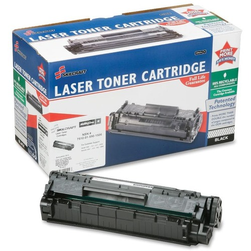 Skilcraft AbilityOne Ultra High Yield Laser Toner Cartridge, BLK, HP 12A NSN5901503