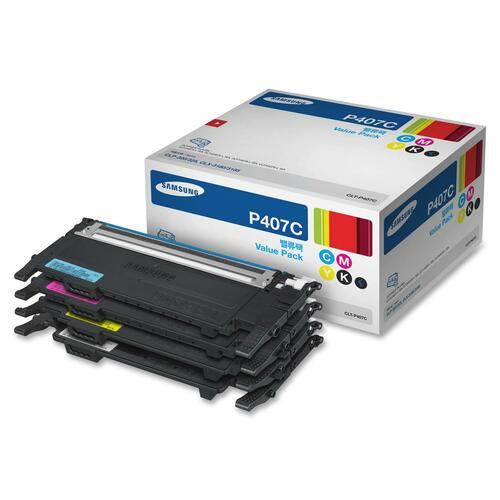 Samsung Value Pack Toner Cartridge SASCLTP407C