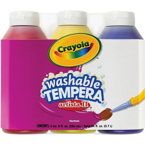 Crayola Artista II Washable Tempera Paint CYO543181