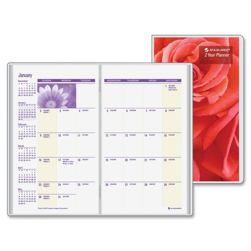 At-A-Glance 2-Year Floral Image Pocket Planner AAGTL241010