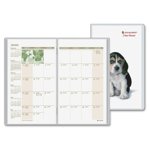 At-A-Glance Puppies 2-year Pocket Planner AAGTL245010
