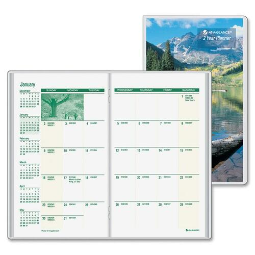 At-A-Glance Scenic 2-Year Pocket Planner AAGTL243010