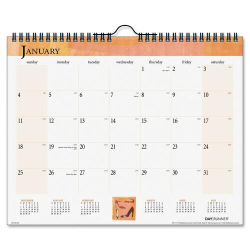 Day Runner Inspire Monthly Wall Calendar DRN9983