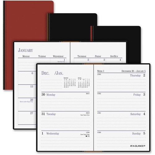 At-A-Glance Genuine Leather Pocket-size Planner AAG740100