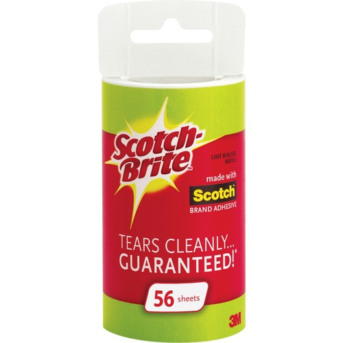 Scotch-Brite 56 Sheets Lint Roller Refill MMM836RFS56-BULK