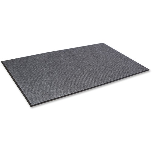 Crown Needle Rib Wipe & Scrape Mat, Polypropylene, 48 x 72, Gray CWNNR0046GY