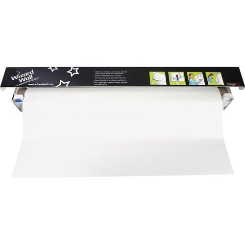"Wizard Wall 28"" Dry Erase Static Cling Film System WZW27525SBW"