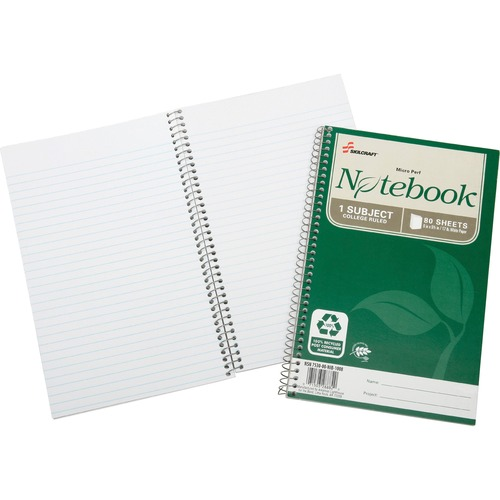 Skilcraft Single-sub Microperfed Spiral Notebook NSN6002017